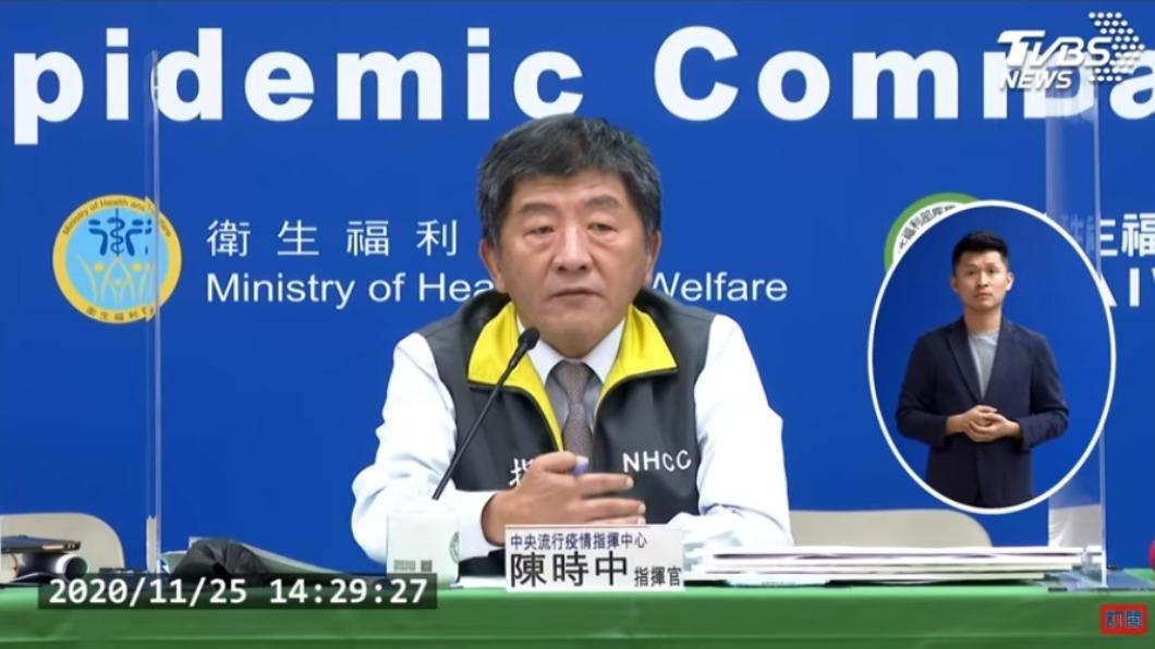 指揮中心指揮官陳時中。(圖/TVBS) 海外國人確診染疫 適當防護下可專案申請返台
