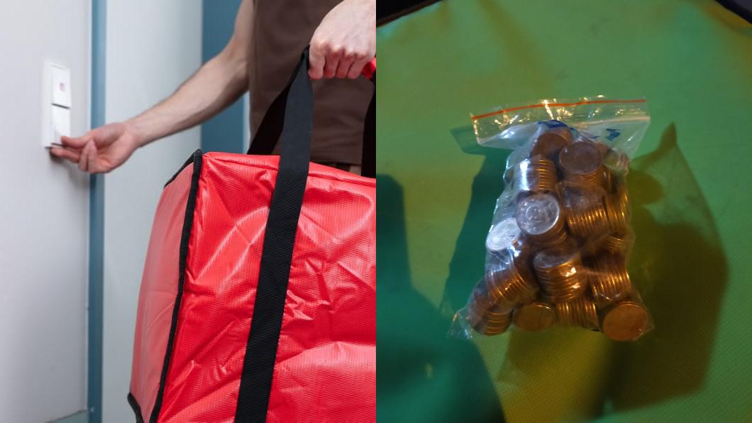 (圖/(左)shutterstock達志影像、(右)翻攝自爆廢1公社) 客訂餐「全付1塊錢」 外送員見1幕搖頭嘆:狠角色