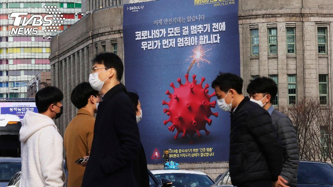 韓國單日確診破500例。(圖/達志影像美聯社) 韓國新冠肺炎單日確診破500例 近3成為年輕人