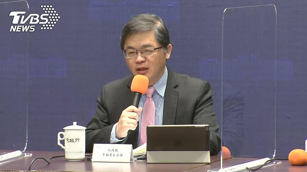 行政院秘書長李孟諺。(圖/TVBS) 萊豬明年進口 政院宣布赴美查廠、新增貨號等5機制
