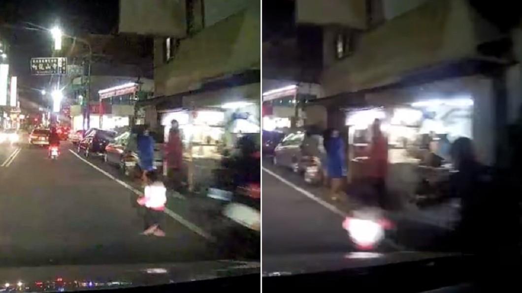 幼童暴衝上路險遭撞 駕駛嚇慘急煞:差1秒就輾過!