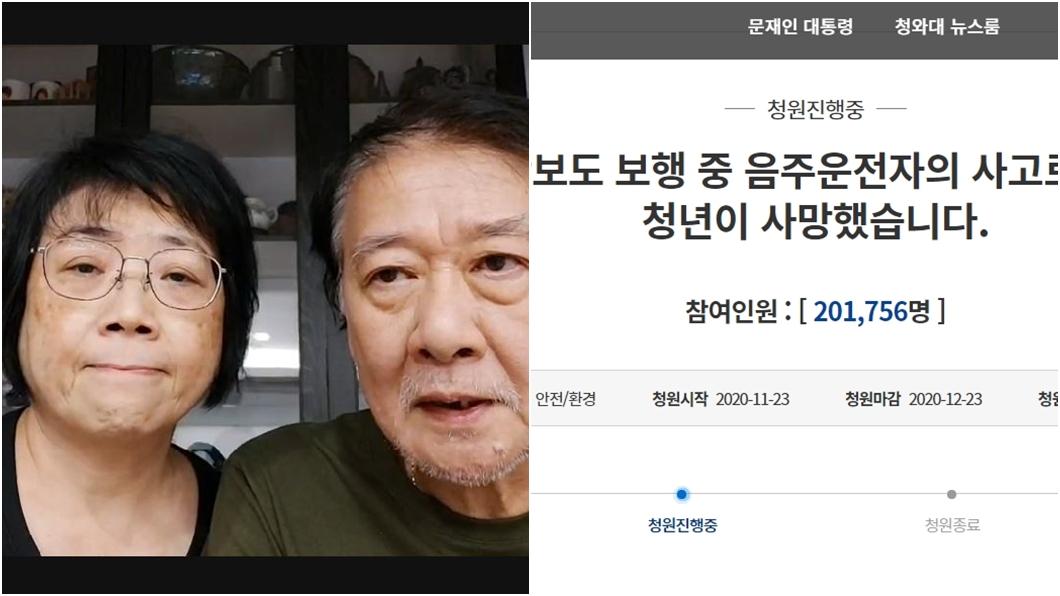 (圖/TVBS、翻攝自青瓦臺網站) 愛女在韓遭酒駕撞死「20萬連署達標」 醫師父淚謝回應
