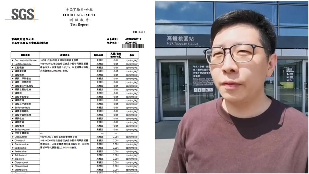 (圖/翻攝自家樂福臉書、TVBS資料畫面) 家樂福自清萊牛未檢出沒用? 他驚吐民進黨「背後算計」