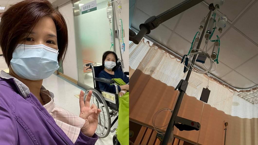 楊月娥大女兒因頭痛住院。(圖/翻攝自楊月娥臉書) 才挺過老么血癌換大女兒出事 楊月娥崩潰:怎麼還找上我