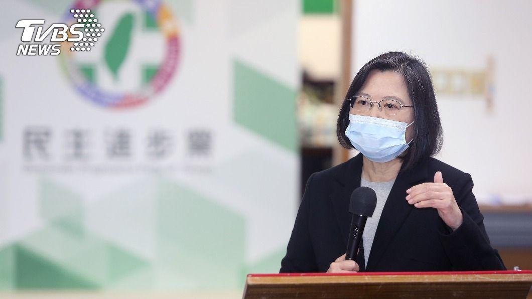 總統兼民進黨主席蔡英文。(圖/中央社) 秋冬防疫專案 蔡英文:讓台灣繼續成為最安全地方