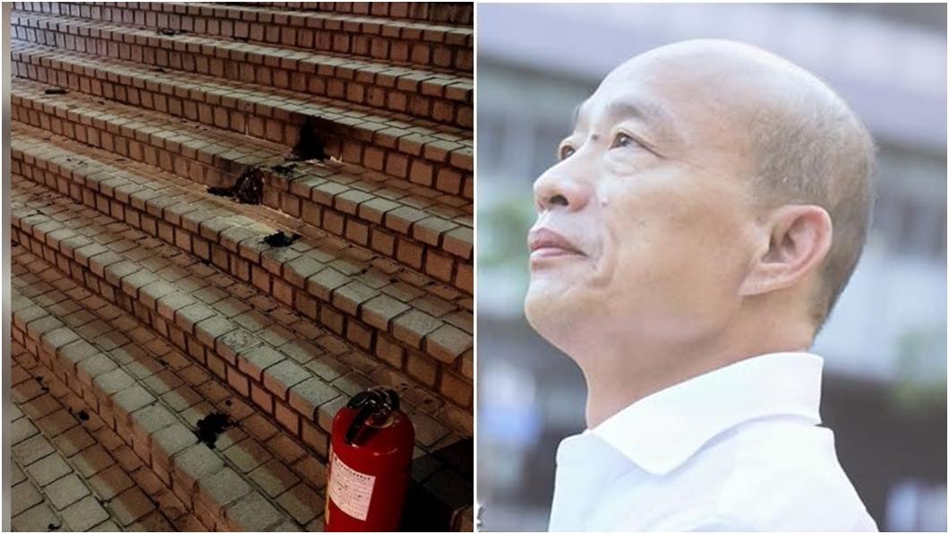 (圖/消防局提供、翻攝自韓國瑜臉書) 心疼男中天前點火受傷 韓國瑜向蔡政府慟喊「12字」