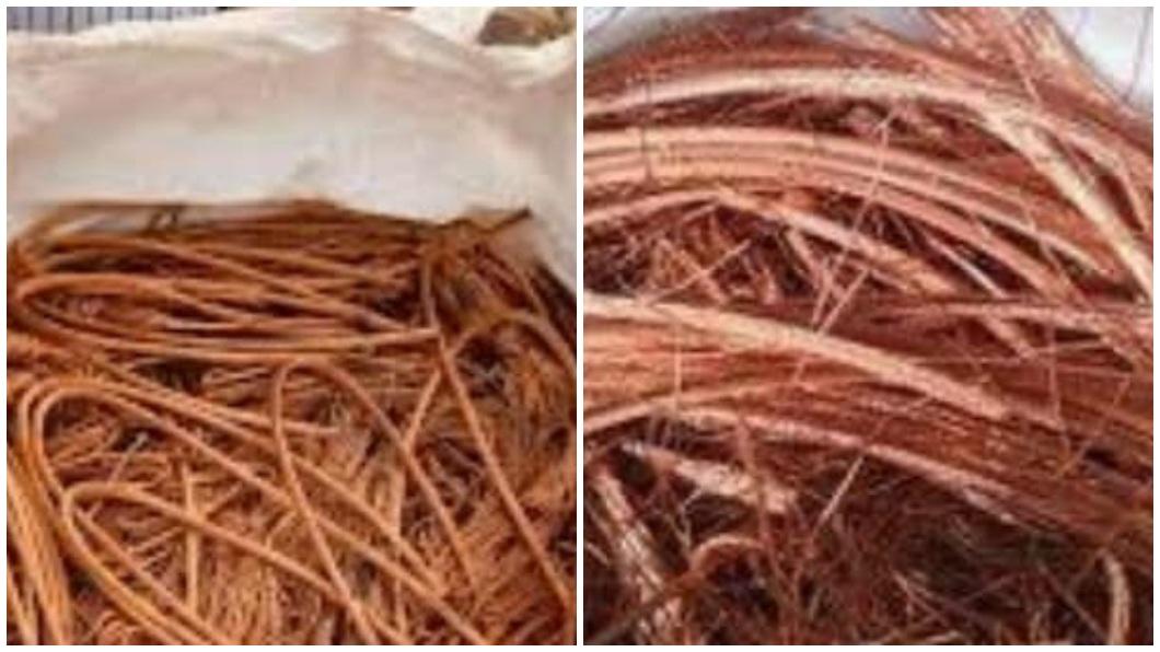 有網友把收集來的紅銅線裝袋放在自己門口,結果險遭資源回收的阿伯全部搬走。(圖/翻攝自爆怨公社) 門口放22袋剝皮紅銅線 阿伯全搬被阻反嗆:以為沒人要
