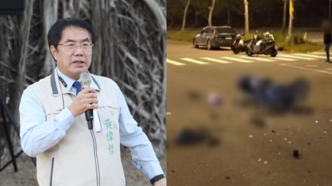 (圖/翻攝自黃偉哲臉書、TVBS資料畫面) 護理師遭酒駕撞命危 引爆網怒火:跟進南韓連署加重刑責