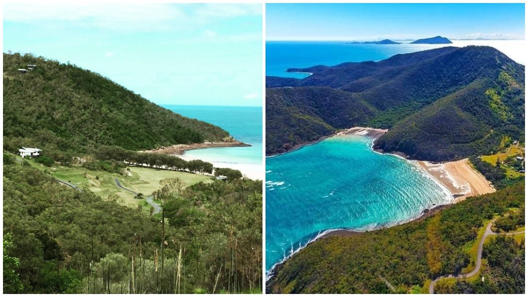 一間陸企花錢買下澳洲昆士蘭北部凱瑟克島,但後續的一些處置卻引發當地民怨。(合成圖/翻攝自臉書粉絲團Visit Keswick Island) 陸企花大錢買小島 「你家變成我家」逼島民3天打包滾蛋
