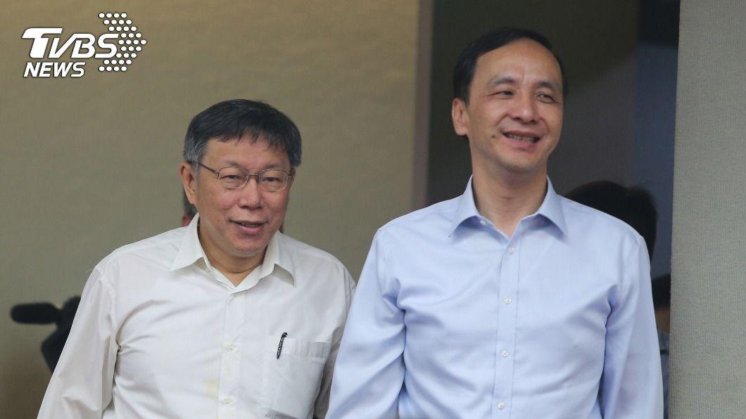 台北市長柯文哲、國民黨前主席朱立倫。(圖/中央社資料照) 與朱立倫同台有政治目的? 柯文哲:想太多