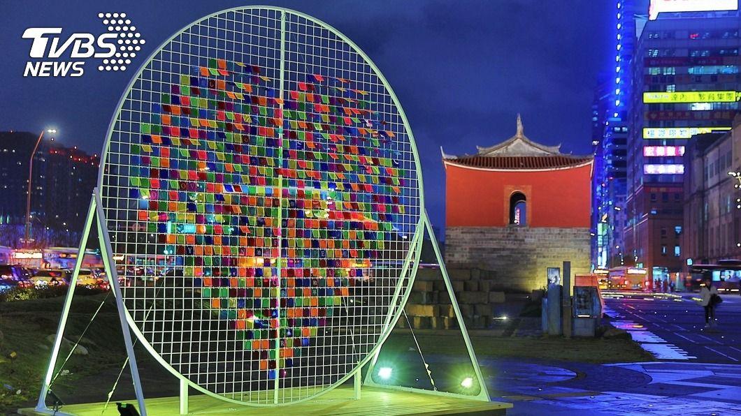 台北市觀傳局今天宣布將舉辦跨年系列活動。(圖/中央社) 台北市跨年系列活動 12/5北門打卡可兌換美食券
