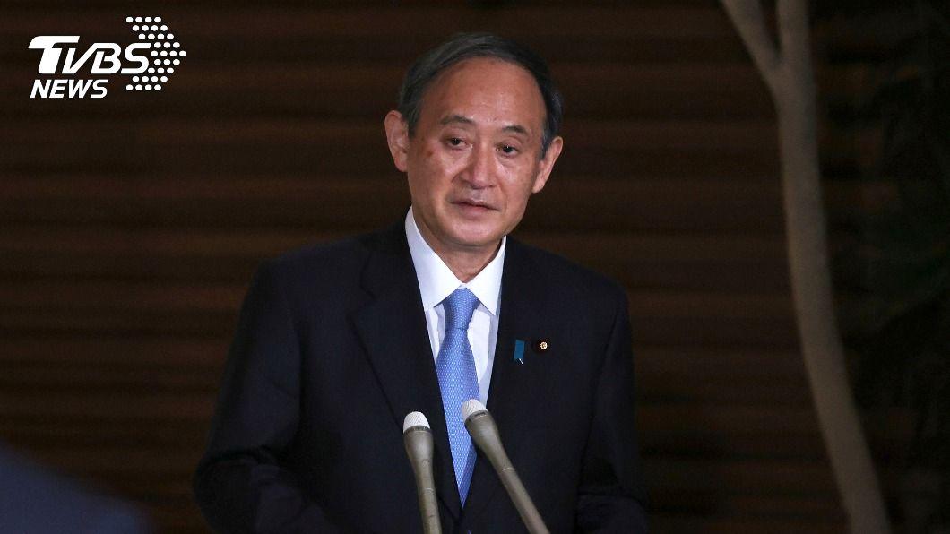 日本首相菅義偉。(圖/達志影像美聯社) 日相菅義偉內閣民調大跌 支持率僅剩約5成