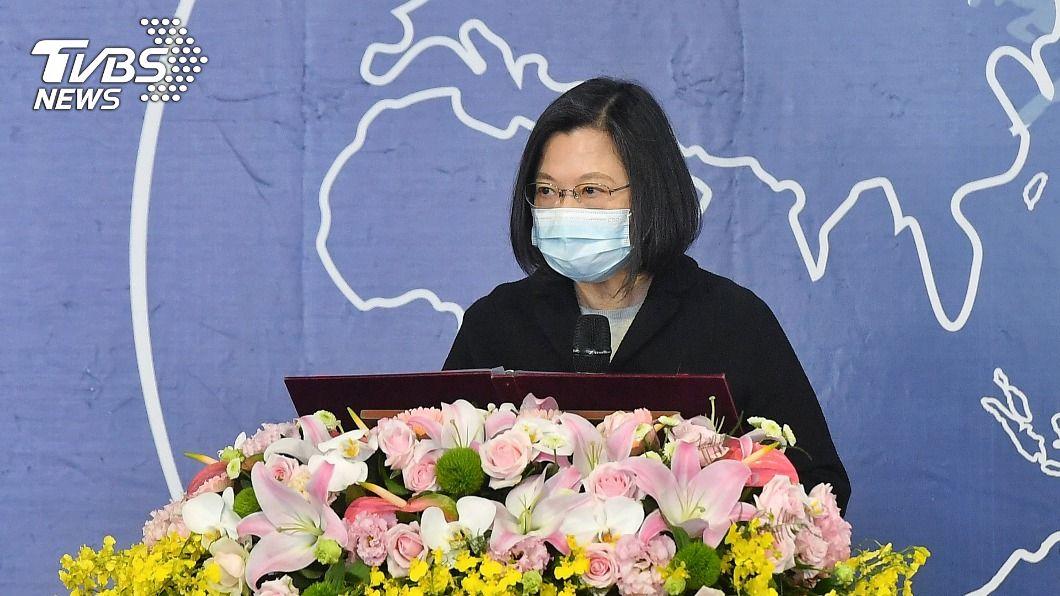 總統蔡英文。(圖/中央社) 蔡總統:中國持續構成威脅 台灣攜手國際夥伴應對