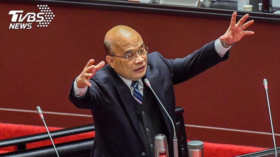 行政院長蘇貞昌。(圖/中央社資料照) 不滿意度攀升 蘇貞昌:行政院長是高耗損的工作