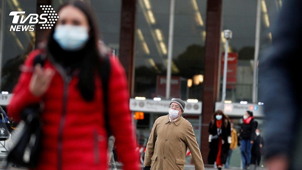 義大利新冠疫情未歇。(圖/達志影像路透社) 義大利冠狀病毒疫情未歇 單日新增近500人喪命