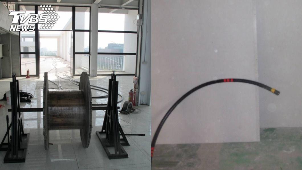 台南一名工人誤觸高壓電送醫搶救。(圖/TVBS) 誤觸2萬2千伏特高壓電 台南工人頭部外傷送醫搶救