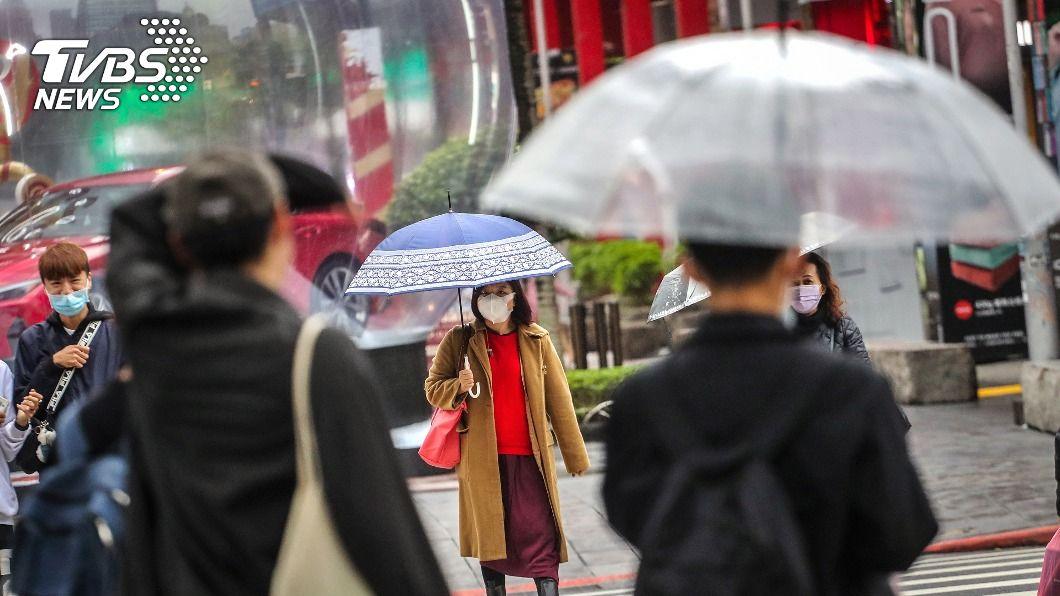 北台灣低溫下探14度。(圖/中央社) 北台灣低溫下探14度 基隆北海岸及宜蘭防大雨