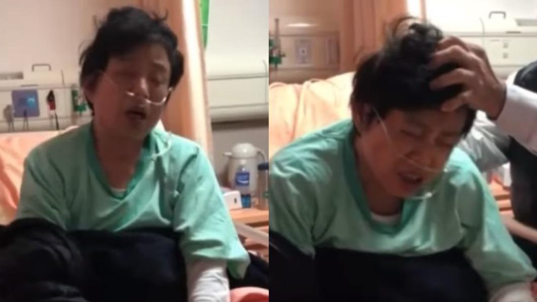 (圖/翻攝自沈智慧臉書) 沈智慧「痛苦喘氣」險無法呼吸影片曝 爆有心肌梗塞危險