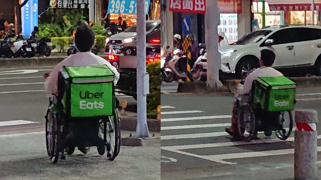 (圖/翻攝自UberEATS台灣Facebook) 「2輪鬥士」街頭搏命跑單 奮鬥背影惹鼻酸