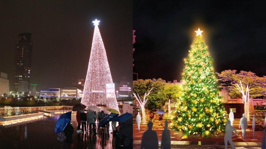 除了新北耶誕城外,還可以去基隆與淡水過耶誕。(圖/翻攝自淡水區公所、基隆市政府) 基隆17尺粉紅樹、淡水櫻花隧道 從耶誕美到元宵