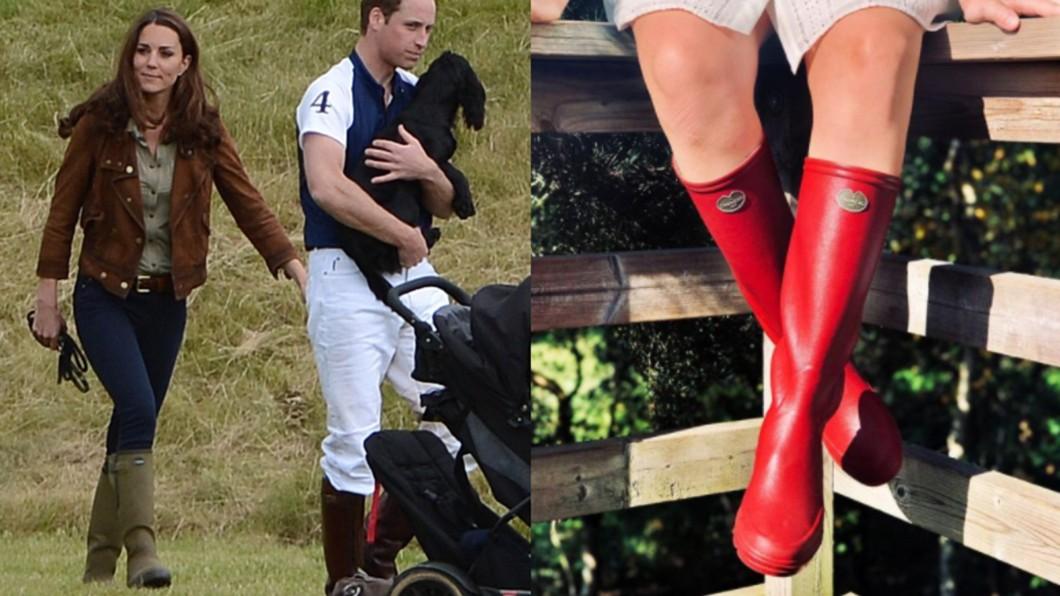 凱特王妃穿著Le Chameau的雨靴。(合成圖/翻攝自Kate Middleton Style Blog、lechameau1927 IG) 凱特王妃愛這雙 盤點「時髦雨靴Top6」好穿輕鬆搭