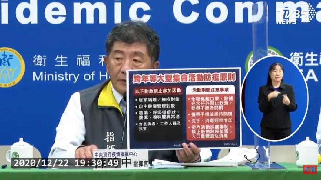 (圖/TVBS) 跨年不停辦!陳時中宣布「3族群」不得參加 違者全開罰