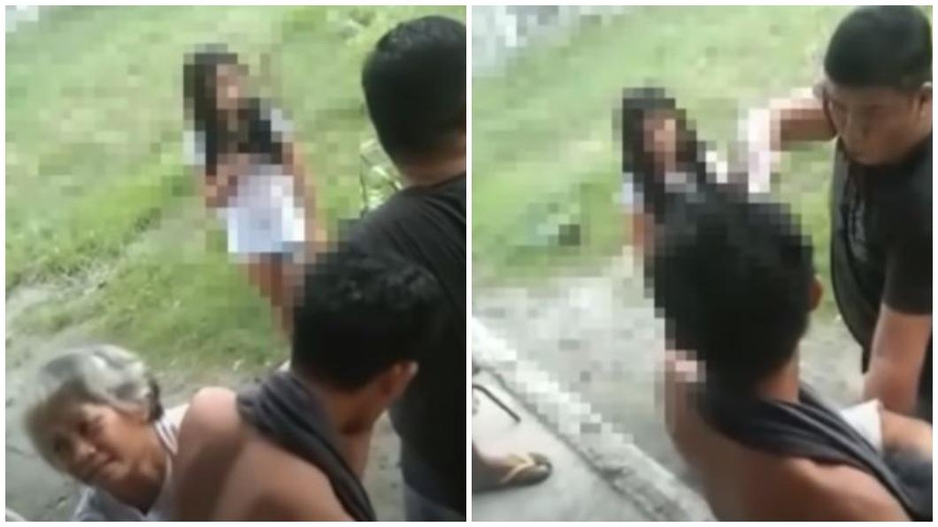 菲律賓一名警察和鄰居母子長久以來有糾紛存在,他一氣之下開槍殺害對方,他年幼的女兒還在一旁叫囂。(圖/翻攝自推特) 惡警開槍爆頭鄰居母子 幼女一旁挑釁:我爸是警察