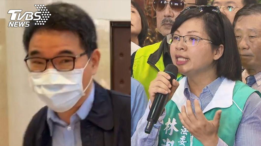 劉建國、林淑芬。(圖/TVBS) 不當萊委?林淑芬棄權不投票 堅持理念坦然接受處分