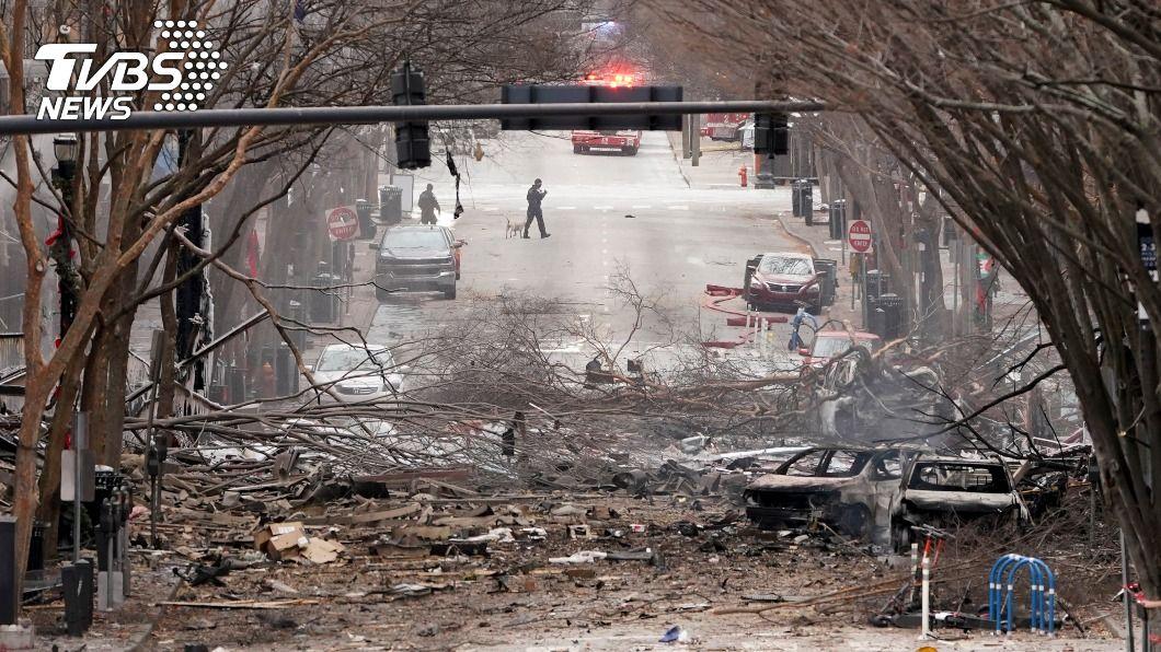 田納西州一名炸彈客在耶誕節清晨引爆炸彈。(圖/達志影像美聯社) 美國田納西州耶誕爆炸案 當局證實主謀當場炸死