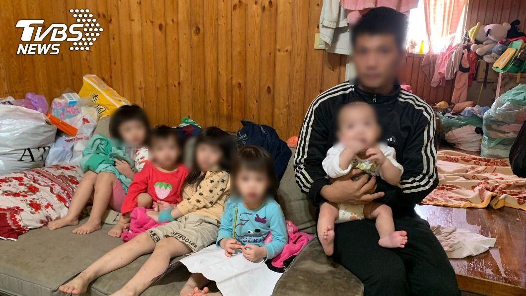 台中5寶爸引發社會關注。(圖/台中行善團張茗富提供) 5寶爸要結紮 家境拮据6年生5孩挨批:早想動刀了