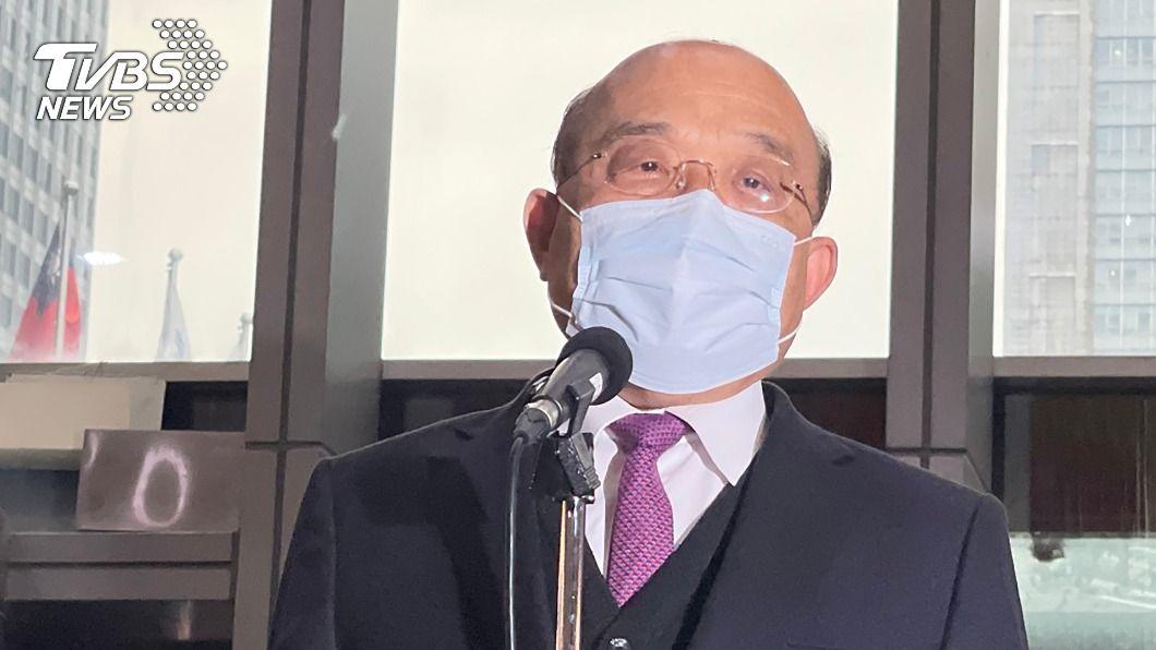 行政院長蘇貞昌。(圖/中央社) 面對疫情疫苗假訊息 蘇揆:以防疫中心發布為主