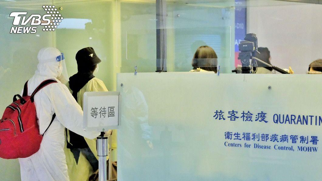 華航27日返台班機上有3人確診。(圖/中央社) 華航英國返台班機3人確診 是否帶變種病毒待釐清