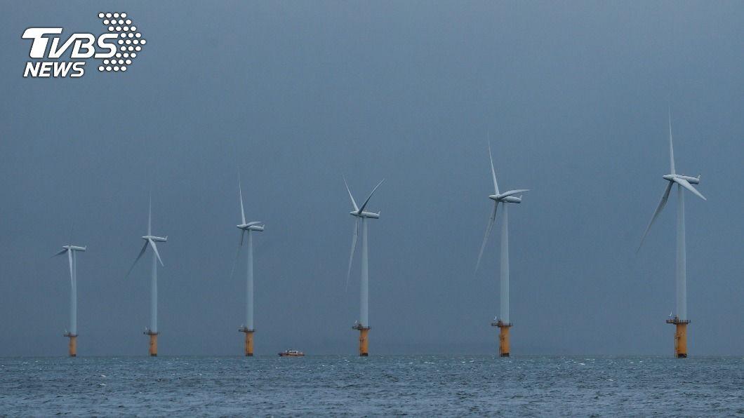 (示意圖/達志影像路透社) 英國12月26日風力發電占發電量逾50% 創歷史新高