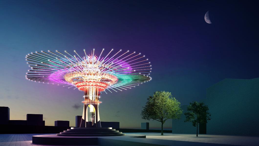 台灣燈會主燈擬於高鐵新竹站展出。(圖/翻攝自2021台灣燈會官網) 台灣燈會主燈「乘風逐光」 擬端午節在高鐵新竹站點亮