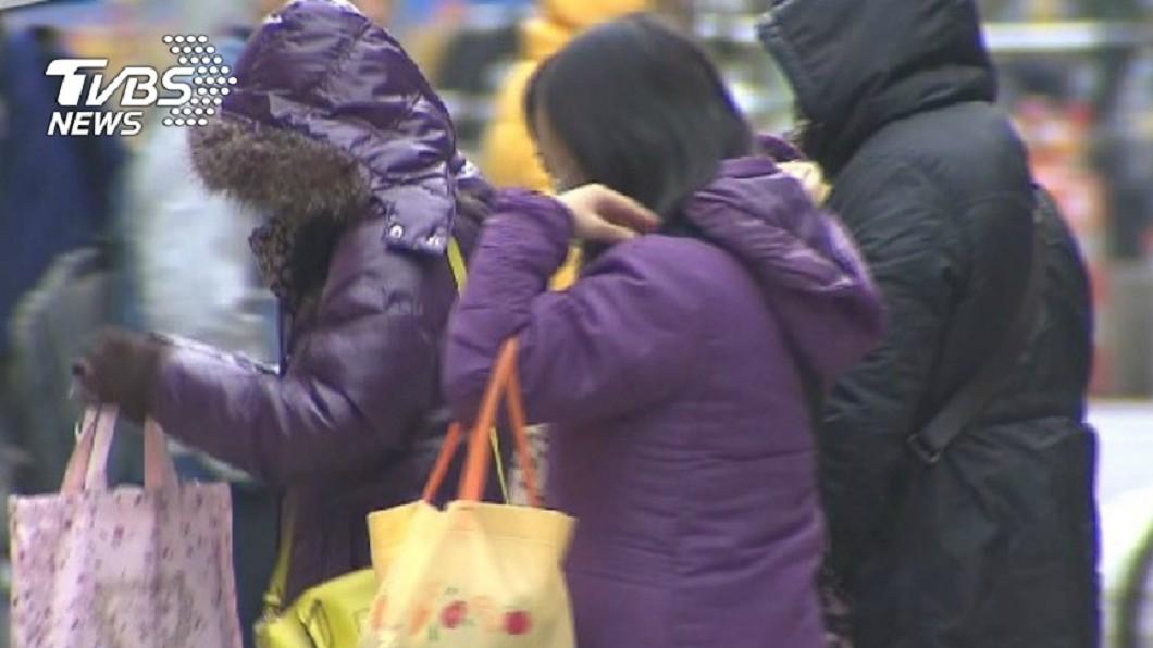 開工日強烈大陸冷氣團來襲。(示意圖/TVBS資料畫面) 急凍開工日!北台降雨明轉乾 「最冷時間曝」下探8度