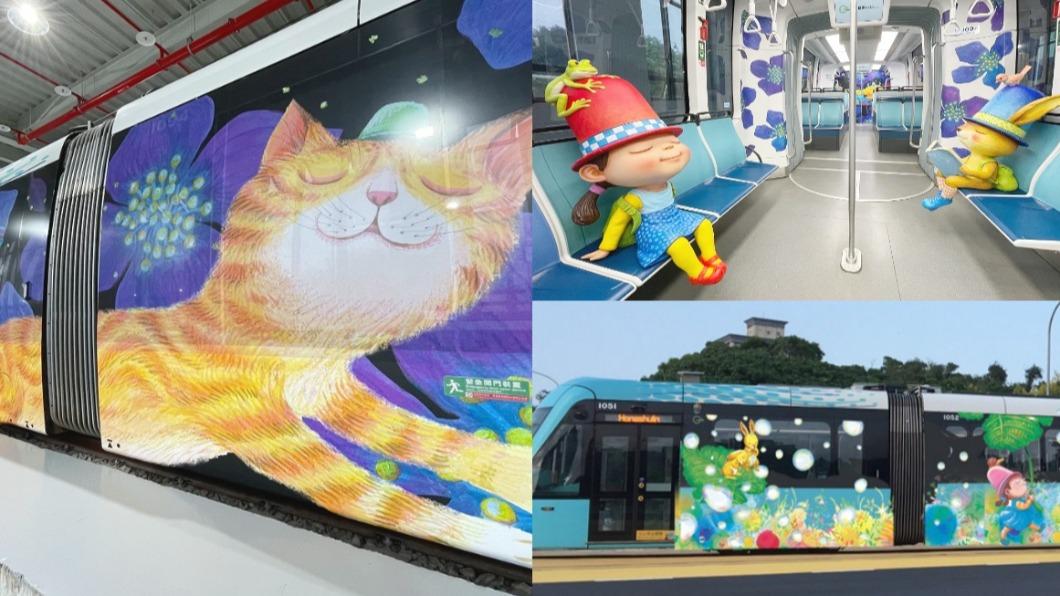 淡海輕軌超人氣的「幾米彩繪列車」換上新主題。(合成圖,翻攝自/新北捷運) 大人小孩都瘋狂!淡海輕軌「2021幾米列車」Q萌登場