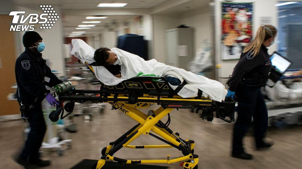 美國住院人數處於疫情爆發以來最高點。(圖/達志影像路透社) 美國疫情嚴峻 單日新增3936人染疫病故刷新紀錄