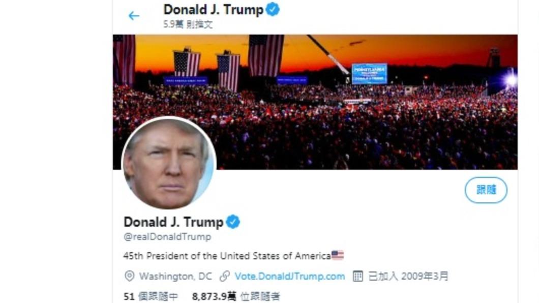 川普推特帳號被封鎖。(圖/翻攝自川普推特) 推特封鎖川普帳號12小時 警告再犯將永久停權