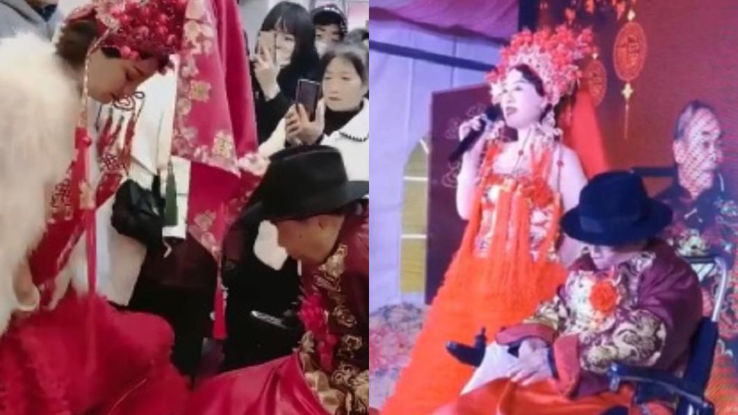42歲女徒弟嫁給80歲中醫老師傅。(圖/翻攝自澎派新聞) 42歲女嫁「8旬身障中醫」 羞曝被針灸折服:結合了