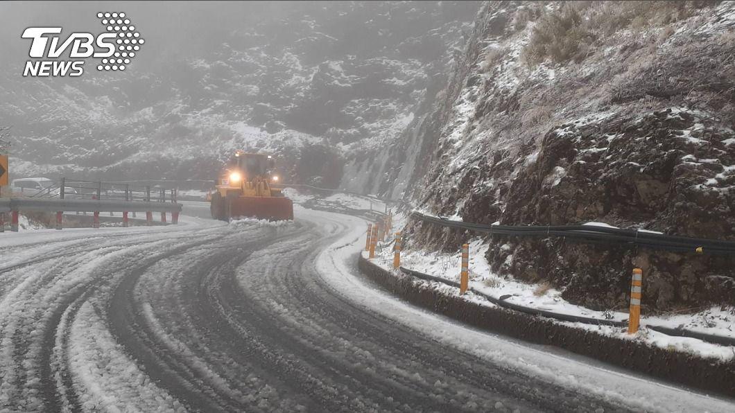 (圖/中央社) 高山道路結冰積雪 4路段傍晚起預警性封閉