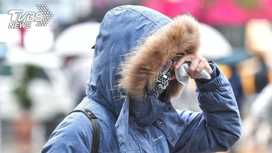 寒流冷颼颼,全台各地易有攝氏10度以下氣溫發生。(示意圖/中央社) 寒流冷颼颼 全台20縣市發布低溫特報