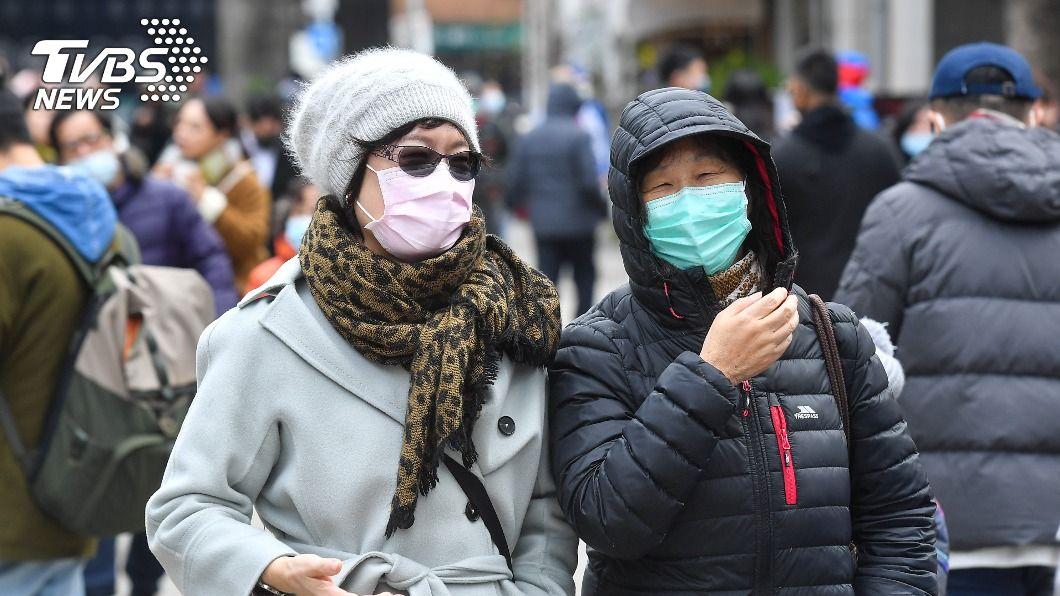 寒流襲台,各地氣溫再降。(圖/中央社) 新一波寒流今報到水氣增 北台灣越晚越冷