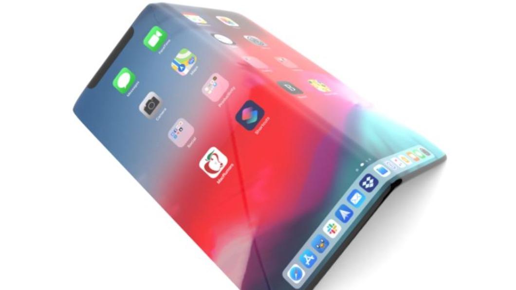 iPhone 13可能除了往內折,也可能往外「反折疊」。(圖/翻攝自MacRumors) iPhone13變身「大法師」?螢幕傳不再是平板式
