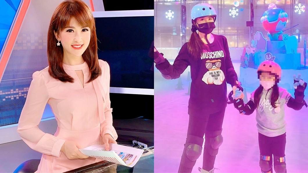 陳海茵帶女兒去溜冰期間帽子被偷。(圖/翻攝自陳海茵臉書) 女主播溜冰驚遭竊 監視器拍下「超扯」真相:最壞示範