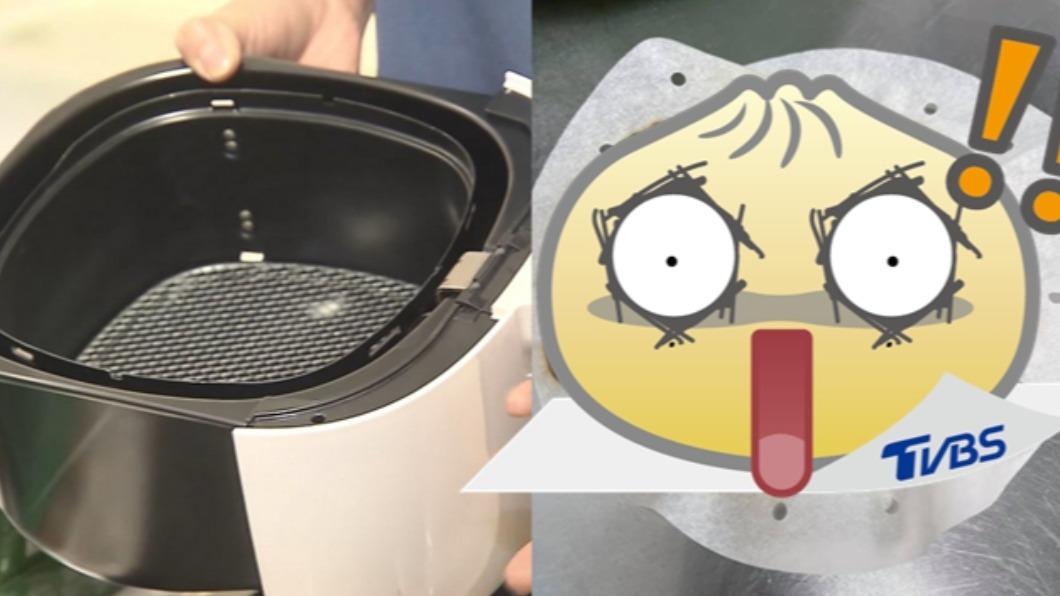 人妻使用氣炸鍋卻少了最重要的步驟。(合成圖/TVBS,翻攝自「爆怨2公社」) 「難怪婆婆不讓我進廚房」 媳氣炸鍋熱肉捲險燒廚房