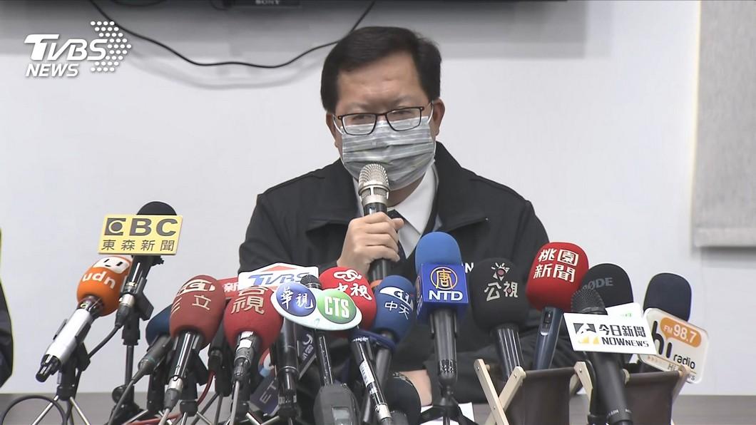 鄭文燦宣布將超過1100人列居家隔離。(圖/TVBS) 部桃回溯匡列「逾1100人」 鄭文燦:一律居家隔離