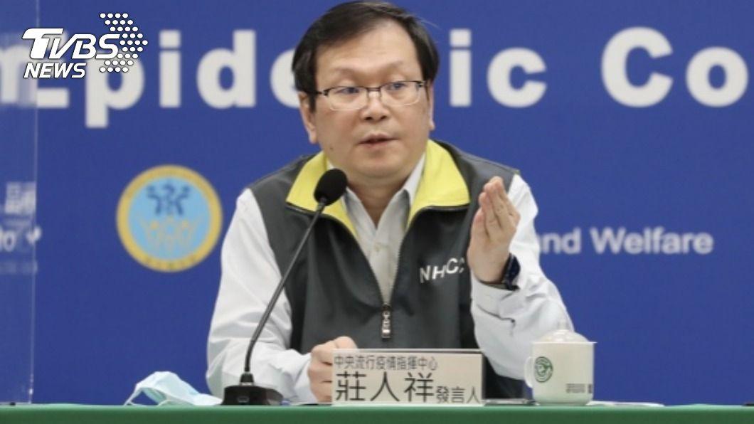 莊人祥表示新冠病毒不會散播到社區。(圖/中央社) 一口氣增2本土確診 莊人祥:病毒沒散到社區