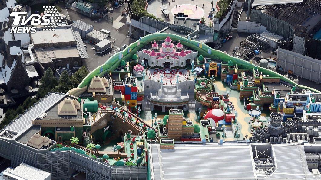 大阪環球影城新園區再度因疫情延後開幕。(圖/達志影像美聯社) 大阪進入緊急事態 環球影城瑪利歐園區延後開幕