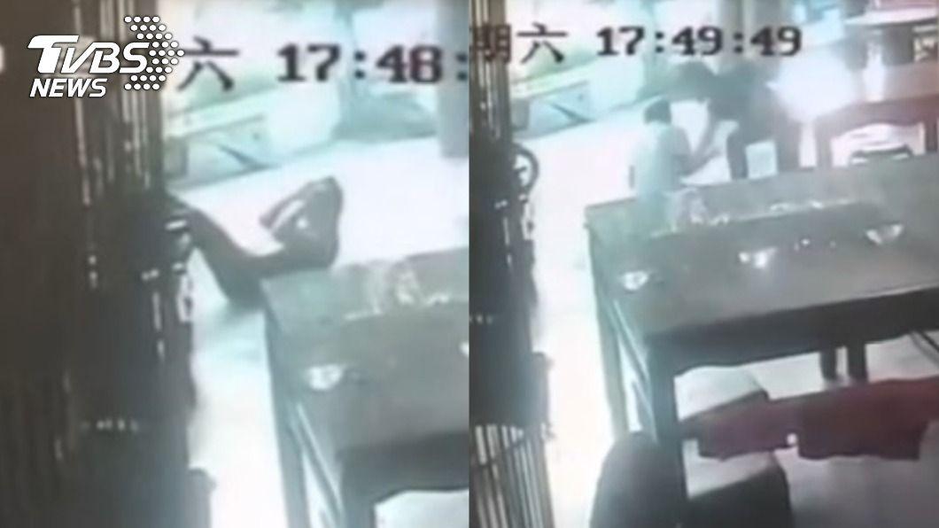 新竹健身男遭醉漢騷擾。(圖/TVBS) 健身男遭跨坐騷擾 重拳「10連擊」活活打死醉漢
