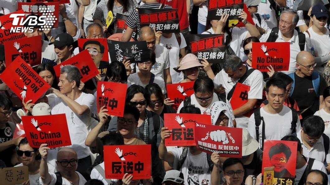 香港「反送中」運動。(圖/達志影像美聯社) 香港反送中縱火燒人案 主嫌潛逃台灣